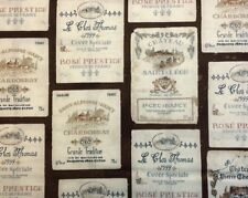 Robert Kaufman VINTAGE WINE LABELS 100% Cotton Premium Quilt Fabric-Per 1/2 Yard
