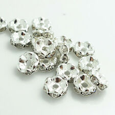 Wholesale 100Pcs Czech Crystal Rhinestone Wavy Rondelle Spacer Beads 4mm ~10mm