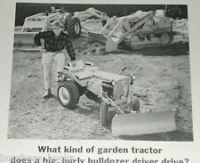 1967 Allis-Chalmers advertisement, lawn tractor with large bulldozers
