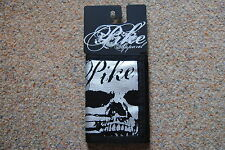 PIKE APPAREL SILVER SKULL CANVAS VELCRO WALLET BNWT OFFICIAL METAL EMO GOTH PUNK
