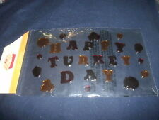 HAPPY TURKEY DAY New Window Gel Cling Decorations Thanksgiving Re-useable