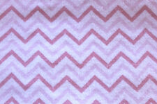 SNUGGLE FLANNEL - CHEVRON PATTERN -PINK on WHITE  - 100% Cotton Fabric *NEW* BTY