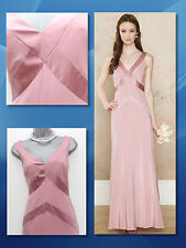 MONSOON Dusty Pink Daisy Maxi Dress Bridesmaid Silk sheen Cocktail Party size 12