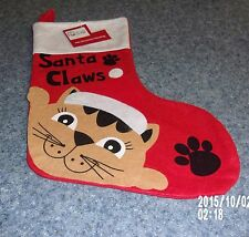 Brand New Cat Design Santa Claws Christmas Stocking For Dog Rescue Charity
