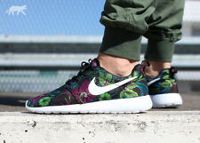 NIKE Rosherun Print Floral Smoky Lotus Trainers Shoes Gym Fashion - UK 9 (EU 44)