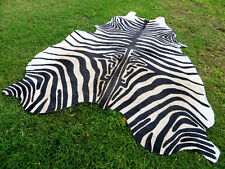 GORGEOUS NEW ZEBRA COWHIDE SKIN Rug Print Printed steer COW HIDE - DC5145 C10
