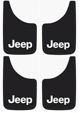 4PK Jeep Logo 9x15 Inch Mud Flaps Splash Guards for Truck Van SUV and Car