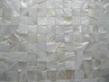 Perlmutt Mosaik weiß ECHT,OHNE Fugen, 20x20 mm auf Matte 300x300 mm.Exklusiv !