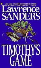 BUY 2 GET 1 FREE Timothy's Game by Lawrence Sanders (1989, Paperback)