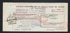 """CENON (33) ALCOOLS / LIQUEUR de l'ABBAYE """"VIEILLE CURE"""" en 1953"""