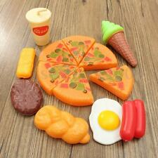 13xPlastic Children Kids Pizza Cola Ice Cream Food Kitchen Pretend Role Play Toy