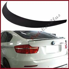 For 08-14 BMW E71 X6 #416 Carbon Black Met P Look Rear Trunk Spoiler Add On Tail