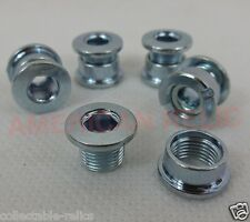 Silver Chrome Chainring Bolts Studs Chain Ring Wheel Bicycle BMX Track Fixie