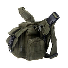 Outdoor Camping Tactical Military Shoulder Strap Bag Travel Backpack Army Green