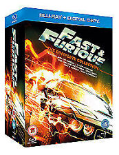 The Fast And Furious 1-5 (Blu-ray, 2011, 10-Disc Set, Box Set)