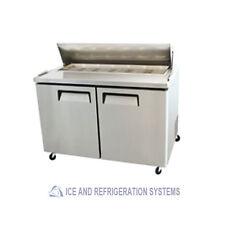BISON COMMERCIAL  SALAD & SANDWICH REFRIGERATOR PREP TABLE COOLER BST-48