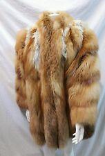 pelliccia volpe  rossa  veste fino alla TG 52