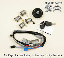 Peugeot Partner Citroen Berlingo IGNITION SWITCH DOOR LOCK BARREL FUEL CAP SET