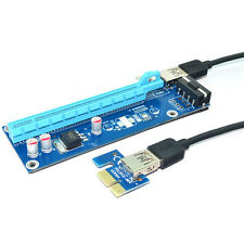 PCI-e 1x to 16x slot adapter riser for PCI Express Graphics Video sound card