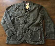 FILSON Guide Work Jacket Coat Black/Grey Waxed Medium NEW $440