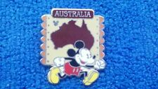 Disney Pin MICKEY AUSTRALIA Continent Stamp Completer 2012 Hidden Mickey HM Cast