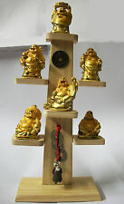 Feng Shui Golden Laughing Buddha for Happiness and Wealth. Superb Gift