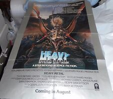 """1981 HEAVY METAL Tarnna Flying Silver Border ADVANCE Columbia Pictures 27"""" x 41"""""""