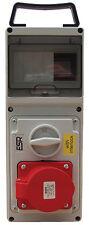 ESR accesi dell' interruttore differenziale INTERLOCK Socket IP44 16A 4 PIN 380V - 415V 3P + E 3 PIN + TERRA