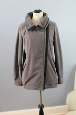 LULULEMON Sz 10 Gray Black Fleece Moto Jacket Warm Fall Zip
