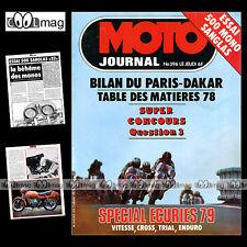 MOTO JOURNAL N°396 BERNARD ZANOTTI NVT RAMBLER 125 175 SANGLAS 500 S2 DAKAR 1979