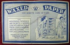 Waxed Paper Vintage Antique Envelope That Once Held 100 Sheets Waxed Paper