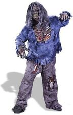 ADULT MENS ZOMBIE HALLOWEEN INC MASK AND HAIR FANCY DRESS COSTUME - XXX-LARGE