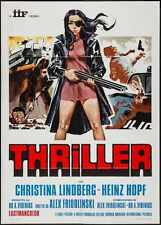 THRILLER THEY CALL HER ONE EYE Italian 2F movie poster 39x55 CHRISTINA LINDBERG