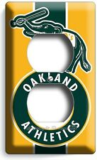 OAKLAND ATHLETICS BASEBALL TEAM DUPLEX OUTLET WALL PLATE COVERS BOYS ROOM DECOR