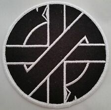 """Crass Logo 3"""" embroidered patch with merrowed edge peace punk anarchy"""