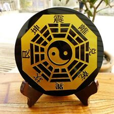 390g-410gNatural Obsidian Feng shui ornament Carving reiki+stand (2)