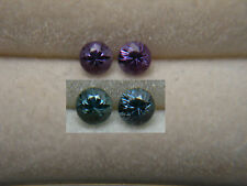 2 Color Change Garnets Gem VERY RARE Green Purple Bekily, Madagascar Diamond Cut