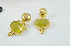 OttomanGems semi precious gem stone earrings Cat Eye Ethnic Turkish handmade