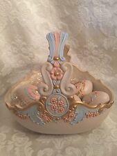 Easter Eggs Basket Handmade Ceramic Spring Decor Flower Decoration Vintage