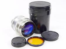 Exc++ ! Silver Rangefinder 85mm f/2 lens JUPITER-9 Zorki Leica M39 s/n 6020559.