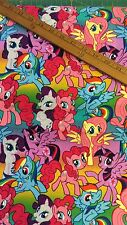 cotton Fabric FQ quilting Disney My Little Pony MLP Colourful