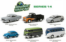 GREENLIGHT 1:64 MOTOR WORLD SERIES 14 SET VW BEETLE PANEL SAMBA VAN 96140 NEW
