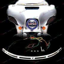 LED Illuminated Windshield Trim For Harley Touring Street Glide FLHX 14 15 16 17