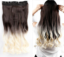 100% New Real Clip In Hair Extensions Hairpiece Hair Extentions For Human Thick