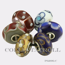 Authentic Trollbeads Sterling Silver  Unique Dice Kit - 6 Beads P64006 *C2*