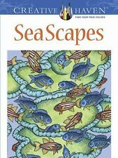 Creative Haven SeaScapes Coloring Book c2013 NEW Paperback We Combine Shipping