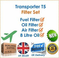 Fits VW Transporter T5 1.9TDi / 2.5TDi Diesel Air Fuel & Oil Filters NEW OEQ!
