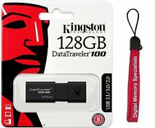 Kingston 128GB DataTraveler 100 G3 128G USB 3.0 Flash Drive DT100G3/128GB +Lanya