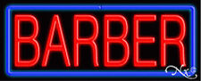 "BRAND NEW ""BARBER"" 32x13x3 BORDER REAL NEON SIGN w/CUSTOM OPTIONS 10380"