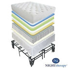 """NEW 12"""" EURO BOX TIGHT TOP SPRING MATTRESS & BED FRAME SET TWIN FULL QUEEN KING"""